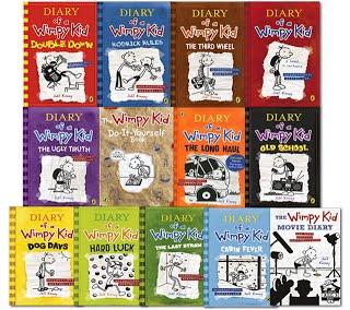 Naslovnice svih knjiga pod nazivom Gregov dnevnik