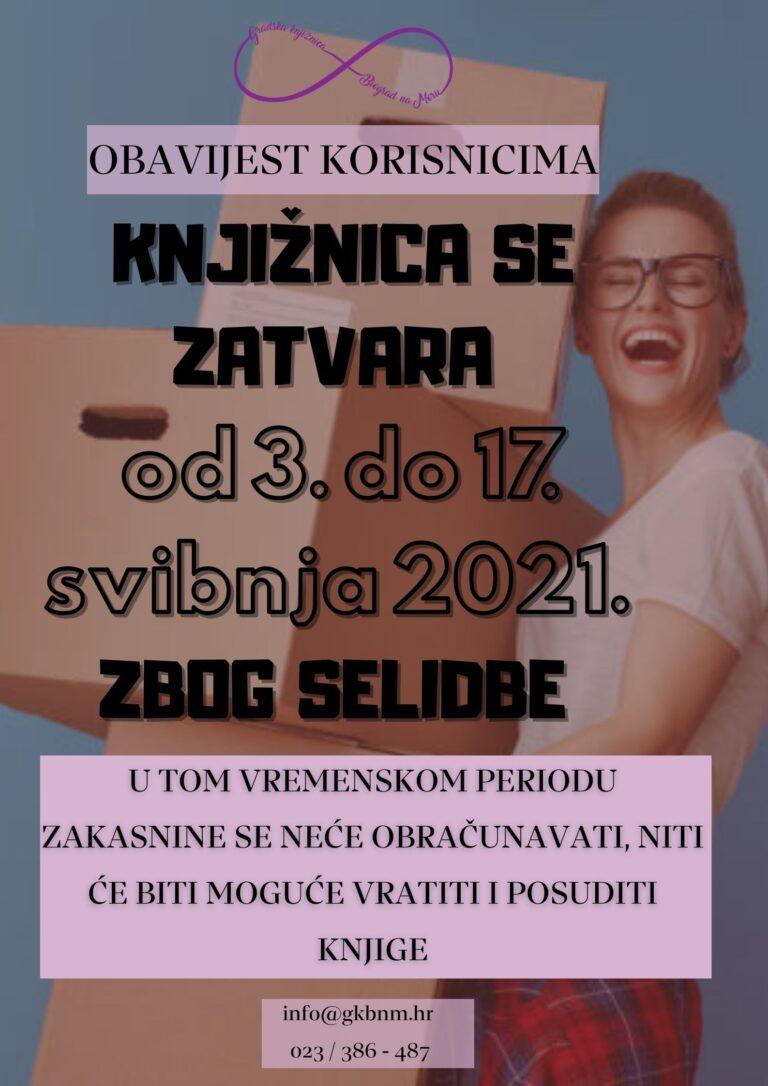 Plakat sa informacijama o selidbi